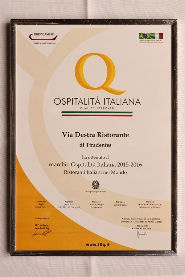 Tiradentes ganha primeiro restaurante certificado pelo Governo Italiano